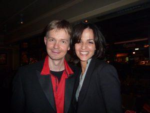 """Frederik Magle og Jovana Parlic til premieren på """"Woman In Red - Seahorse Aria""""."""