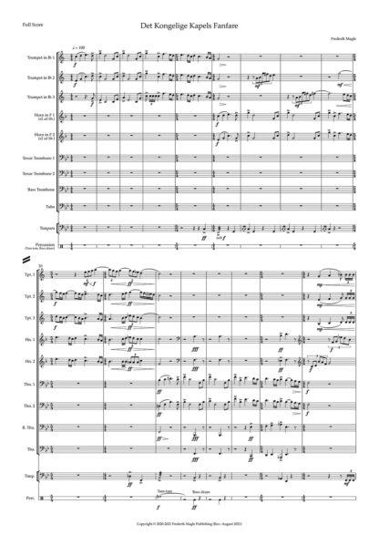 Det Kongelige Kapels Fanfare preview 1